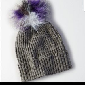 American Eagle Outfitters Grey Donegal Pom Hat NWT